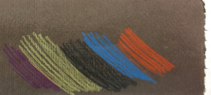 Colour pencils on a dark coloured paper can be very effective