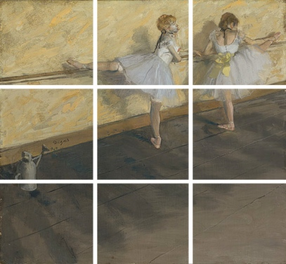 Degas rule of thirds