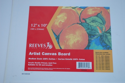 Canvas board is ideal for oil painting