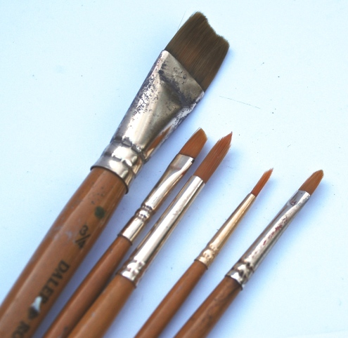 You will need at least five different brush types
