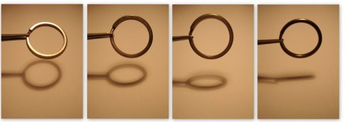 A metal ring can teach you about ellipses