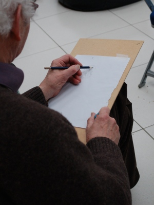 Using a drawing board for drawing offers more flexibility to draw at different angles