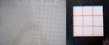 Grids on acetate and within a viewfinder