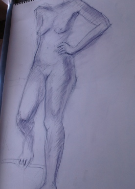 Life drawing can really loosen up your style
