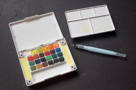 A 'field' set of watercolours ideal for location painting