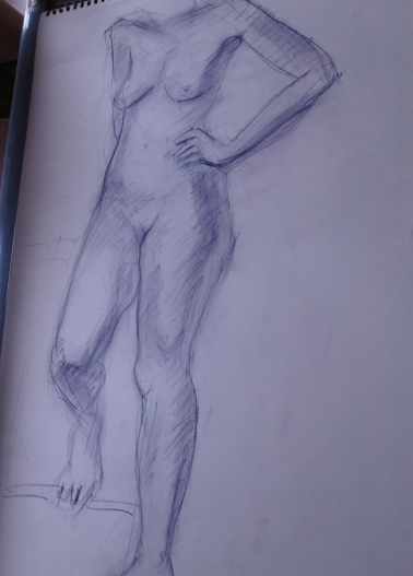 Life drawing with willow charcoal