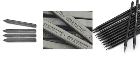 Graphite sticks and pencils