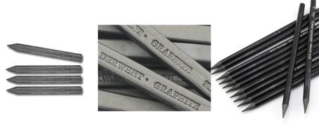 Graphite sticks and pencils