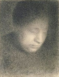 Many drawings of famous painters like Seurat are equally impressive