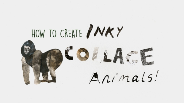 How to Create Inky Collage Animals  Skillshare class