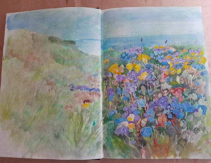 Sketchbook of unfinished work